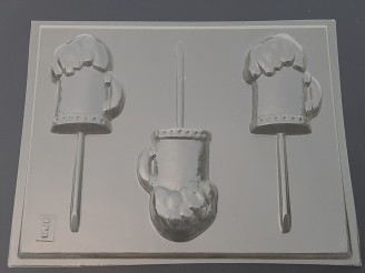 623 Root Beer Float Chocolate Candy Lollipop Mold  LAST ONE!