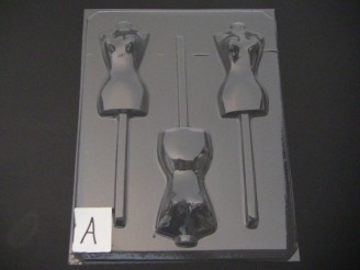 253x Mannequin Torso Chocolate Candy Lollipop Mold FACTORY SECOND