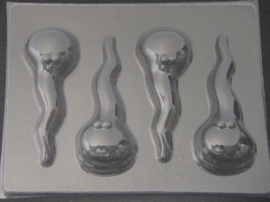 142x Cute Spermies Chocolate Candy Mold