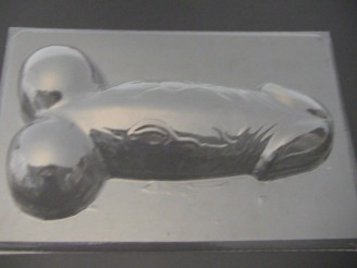 243Axl Large 11 Inch Penis Back Oversized Chocolate Mold