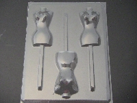 253x Mannequin Torso Chocolate or Hard Candy Lollipop Mold