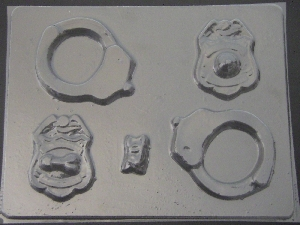 122x Boob and Penis Patrol Handcuffs Chocolate Candy Mold