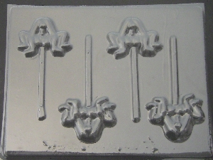 127x Him On Her Chocolate or Hard Candy Lollipop Mold