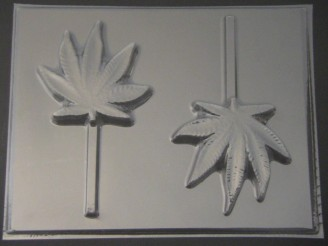 172x Pot Leaf Marijuana Chocolate Lollipop Candy Mold