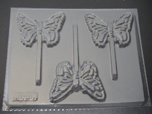 1310 Butterfly Chocolate or Hard Candy Lollipop Mold