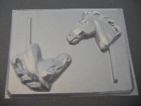600 Horse Head Large Chocolate or Hard Candy Lollipop Mold