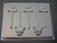 601 Frog Chocolate Lollipop Candy Mold