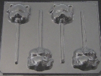 603 Pig Face Chocolate or Hard Candy Lollipop Mold