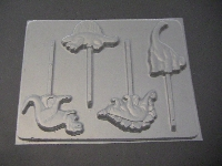 605 Dinosaur Chocolate or Hard Candy Lollipop Mold