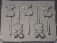 607 Deer Chocolate or Hard Candy Lollipop Mold