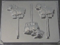 618 Sheep Chocolate or Hard Candy Lollipop Mold