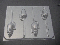 622 Mouse Rat Chocolate or Hard Candy Lollipop Mold