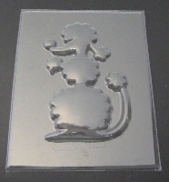 644 Poodle Large Dog Chocolate Candy Mold