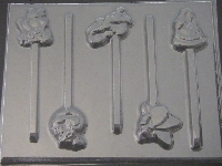 645 Rain Forest Animals Chocolate or Hard Candy Lollipop Mold