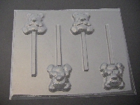 647 Teddy Bear with Bow Tie Chocolate or Hard Candy Lollipop Mold