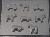 649 Farm Animals Chocolate Candy Mold