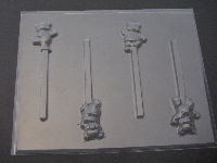 663 Baby Teddy Bear Chocolate Candy Lollipop Mold