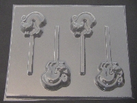 679 Cat Chocolate or Hard Candy Lollipop Mold