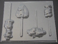 664 Snake Gorilla Alligator Giraffe Chocolate or Hard Candy Lollipop Mold