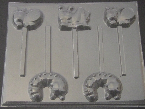 1312 Cute Bugs Chocolate Candy Lollipop Mold