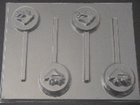 668 Elk on Round Chocolate or Hard Candy Lollipop Mold