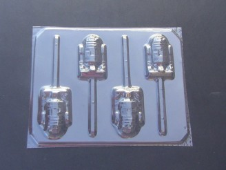174sp R3D3 Chocolate or Hard Candy Lollipop Mold