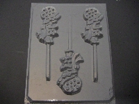 185sp Holly Hobbit Doll Chocolate or Hard Candy Lollipop Mold