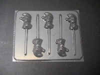 187sp Blue Girl Chocolate or Hard Candy Lollipop Mold
