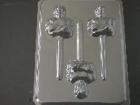192sp Strong Ranger Face and Torso Chocolate or Hard Candy Lollipop Mold