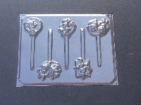 193sp Female Mouse Birthday Chocolate or Hard Candy Lollipop Mold
