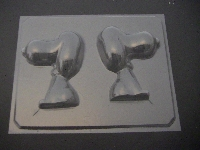195sp Beagle Dog 3D Chocolate Candy Mold