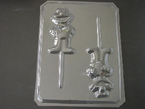 196sp Yellow Chicken Friend in Shirt Chocolate or Hard Candy Lollipop Mold