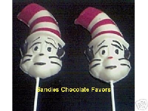 198sp Cat In A Hat Chocolate or Hard Candy Lollipop Mold