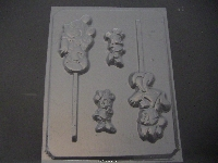 199sp Male and Female Mouse Chocolate or Hard Candy Lollipop Mold
