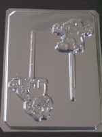 202sp Orange Cat Body Chocolate or Hard Candy Lollipop Mold