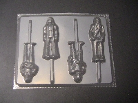 204sp Star Wonders Full Body Chocolate Candy Lollipop Mold