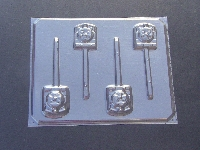 206sp Tom Train Face Chocolate or Hard Candy Lollipop Mold