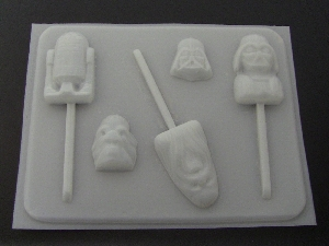 207Sp Star Wonders Faces and Bite Size Pieces Chocolate or Hard Candy Mold