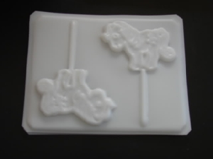 208sp Little Pony Large Chocolate or Hard Candy Lollipop Mold