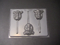 211sp Shreek Face Chocolate or Hard Candy Lollipop Mold