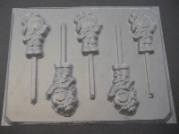 212sp Rainbow Dull Doll Chocolate or Hard Candy Lollipop Mold