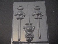 298sp Baby Cracker Monster Chocolate or Hard Candy Lollipop Mold