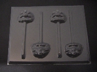 301sp Raspberry Turnover Face Chocolate or Hard Candy Lollipop Mold