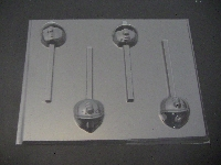 302sp Builder Man Face Chocolate Candy Lollipop Mold