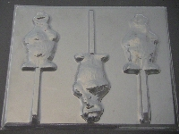 303sp Cracker Monster Chocolate or Hard Candy Lollipop Mold