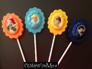 304sp Princess Cameo Chocolate Candy Lollipop Mold