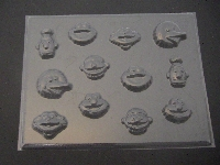 305sp Sesame Friends Faces Chocolate or Hard Candy Mold