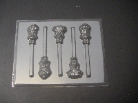 307sp Raspberry Turnover and Friends Chocolate or Hard Candy Lollipop Mold