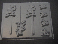 308sp Silly Dog Chocolate or Hard Candy Lollipop Mold