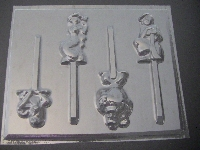 310sp A Lad, Jazzy Chocolate Candy Lollipop Mold